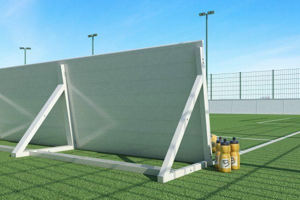 goalfix blind football_rebound boards_rear view close up