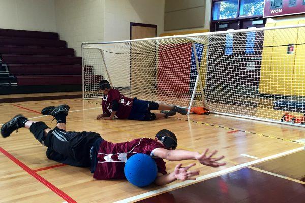 goalfix lightweight goalball goal in action