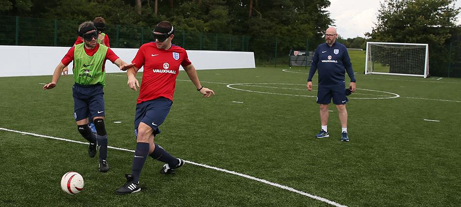 Jonathan Pugh, England blind soccer head coach
